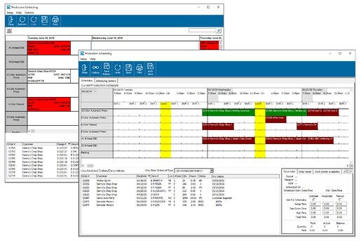 Impress Production Scheduling