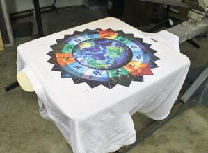Shirt Printed with PolyOne Water-Based Inks